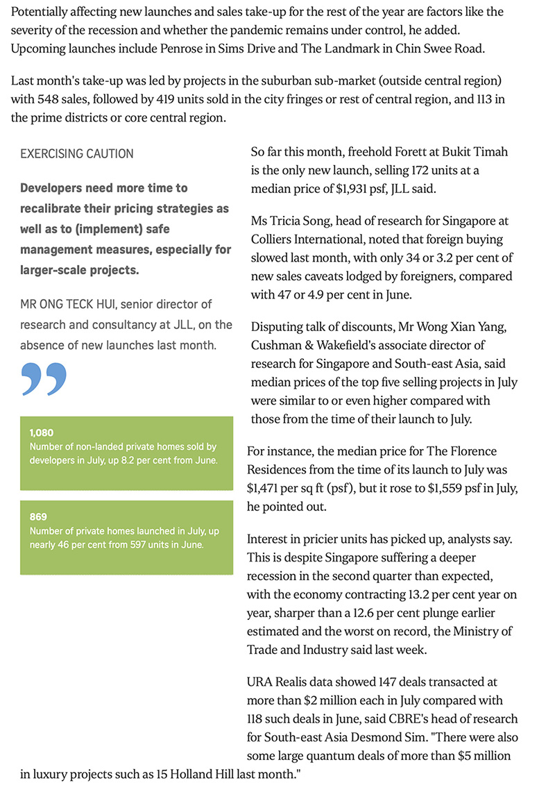 The Line @ Tanjong Rhu - New private home sales up for 3rd month in row 2